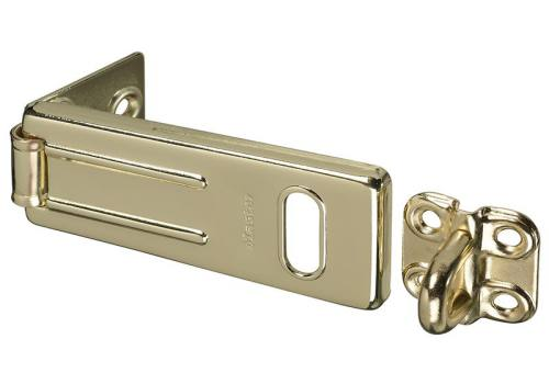 Master Lock Wrought Steel Hasp 89mm - Brass Finish