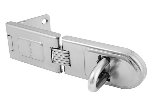 MasterLock Wrought Steel Single Hinged Hasp 200mm