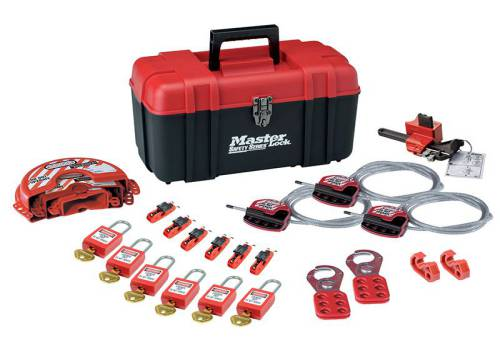 MasterLock Lockout Toolbox 23 Piece Kit - Valve & Electrical