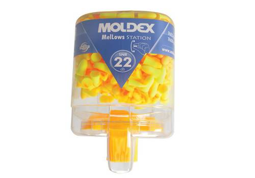 Moldex Disposable Foam Earplugs Mellows Station 250 Pairs SNR 22