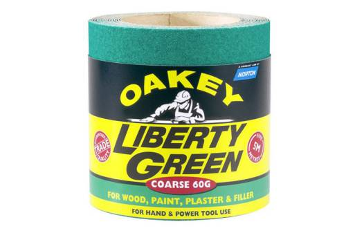 Oakey Liberty Green Roll 5m X 115mm 80g 63918
