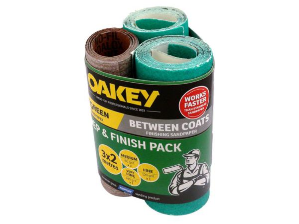 Oakey Prep & Finish Pack 3 x 2m Assorted 77696093112