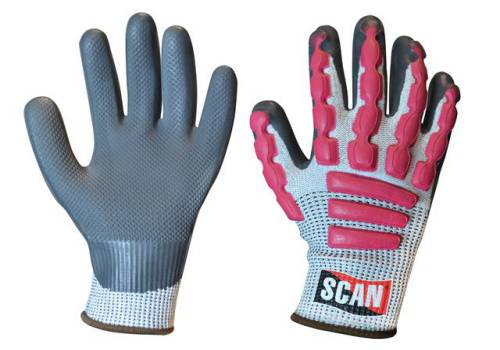 Scan Anti-Impact Latex Cut 5 Gloves - Extra Large (Size 10) T5000