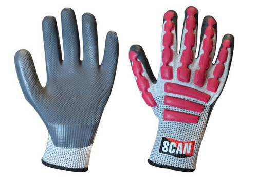 Scan Anti-Impact Latex Cut 5 Gloves - Extra Extra Large (Size 11) T5000