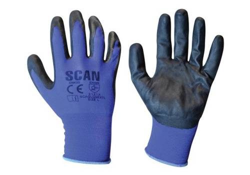 Scan Max. Dexterity Nitrile Gloves - Large (Size 9) N550118