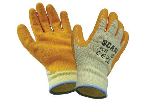 Scan Knit Shell Blue Latex Palm Gloves
