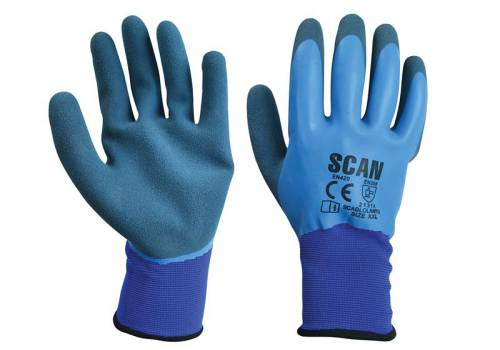 Scan Waterproof Latex Gloves - Extra Extra Large (Size 11)