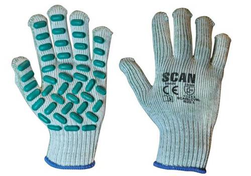 Scan Vibration Resistant Latex Foam Gloves - Large (Size 9) L8500