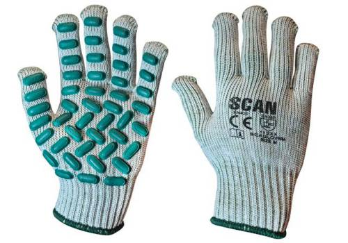 Scan Vibration Resistant Latex Foam Gloves - Medium (Size 8) L8500