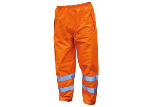 Scan Hi-Vis Motorway Trouser Orange - M (34-36in)