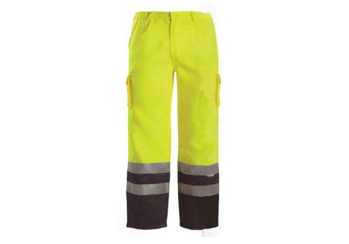 Scan Hi-Vis Motorway Trouser Yellow Black - L (38-40in)