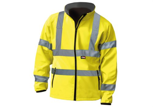Scan Hi-Vis Yellow Soft Shell Jacket - M (41in)