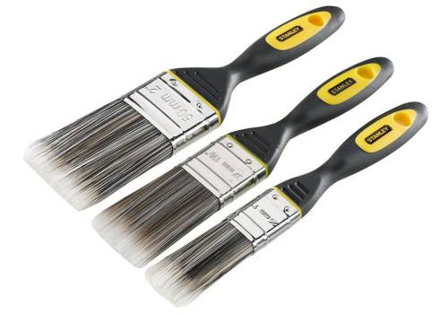 Stanley Tools Dynagrip Synthetic Brush Pack (3Pc)