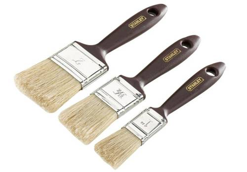 Stanley Tools Woodcare Paint Brush Pack (3 Piece)