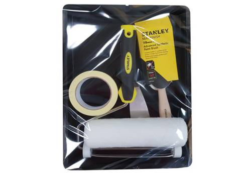 Stanley Tools Roller & 3in Max Finish Brush Set, 6 Piece TBSPKITC