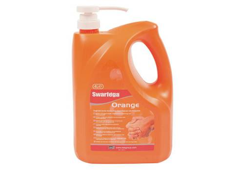 Swarfega Orange Hand Cleaner Pump Bottle 4 Litre