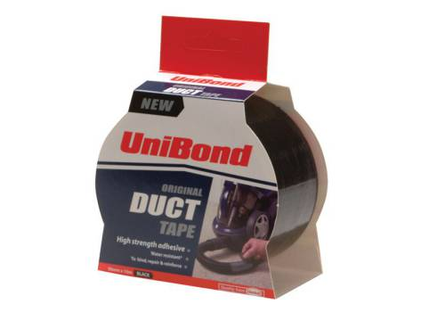 Unibond Duct Tape Black  50mm x 25m