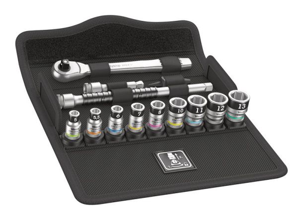 Wera 8100 SA 12 HF Zyklop Metal Switch Socket Set of 13 Metric 1/4in Drive 5003756001
