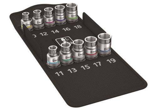 Wera 8790 HMC HF/10 Zyklop Screw Hold Socket Set of 9 Metric 1/2in Drive 5004203001