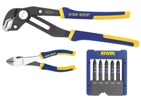 Irwin Plier Set With Free 5Pce Impact Drive 1976854