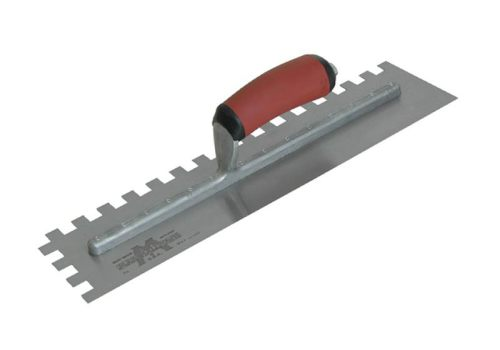 Marshalltown M711SD 1/2in U-Notched Trowel DuraSoft Handle 16 x 4in M711SD