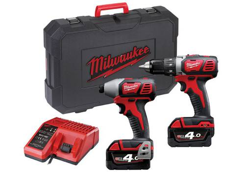 Milwaukee Power Tools M18 BPP2C-402 Twin Pack 18V 2 x 4.0Ah Li Ion 4933443479