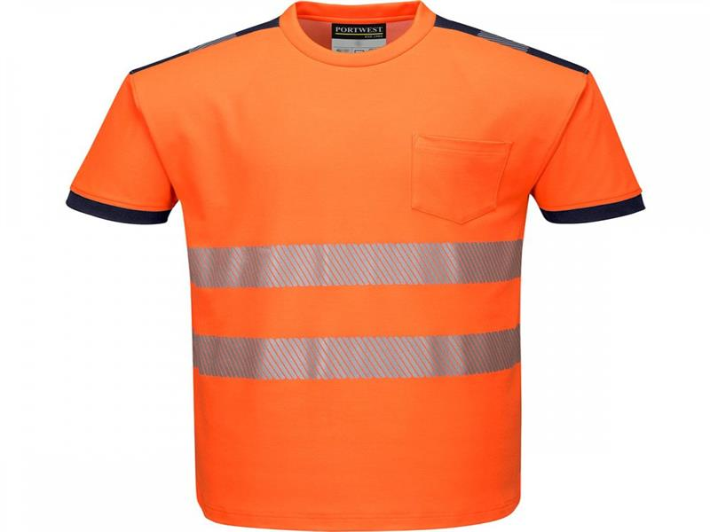 Portwest T181 PW3 Hi-Vis Orange Softshell T-Shirt - XL