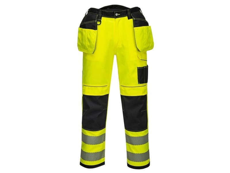 Portwest T501 Pw3 Hi-Vis Holster Trouser Yell 34