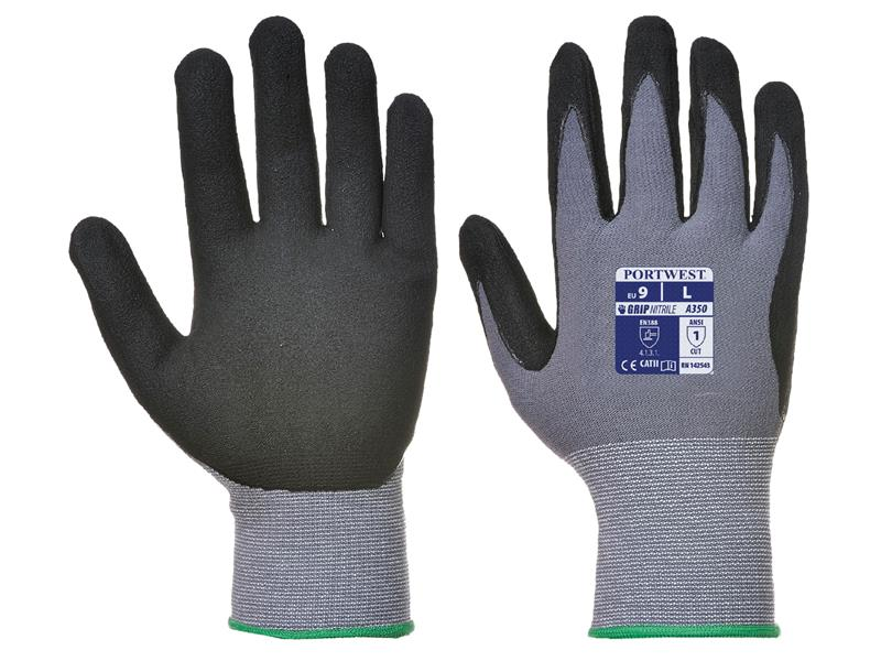 Portwest A350 Black Dermi Flex Glove L