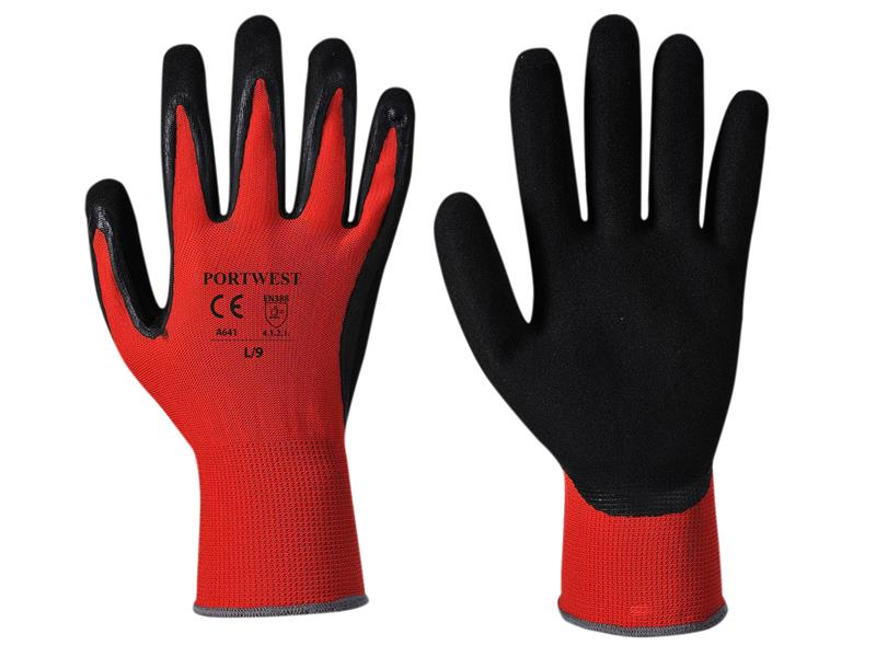 Portwest A641 Red Cut 1 Resistant Gloves - Extra Large (Size 10)