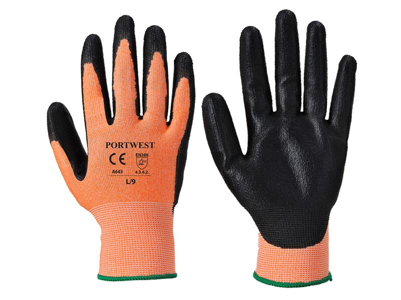 Portwest A643 Amber 3 Cut Resistant Gloves - Large (Size 9)