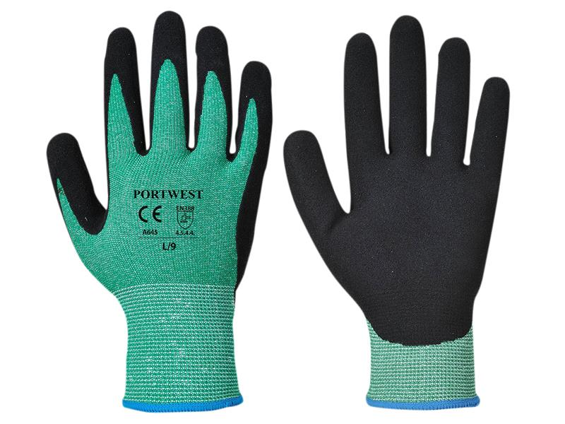 Portwest A643 Green 5 Cut Resistant Gloves - Large (Size 9)