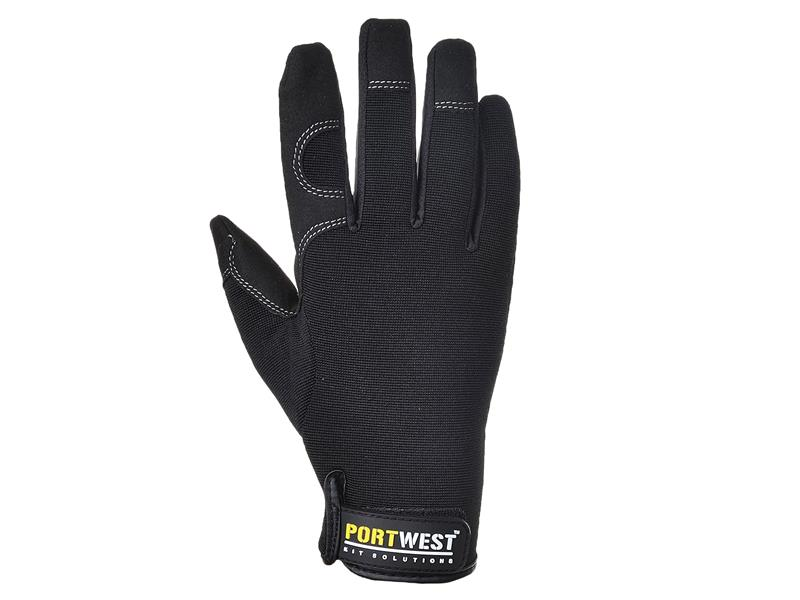 Portwest A700 Black General Utility Gloves - Large (Size 9) A700BKRL