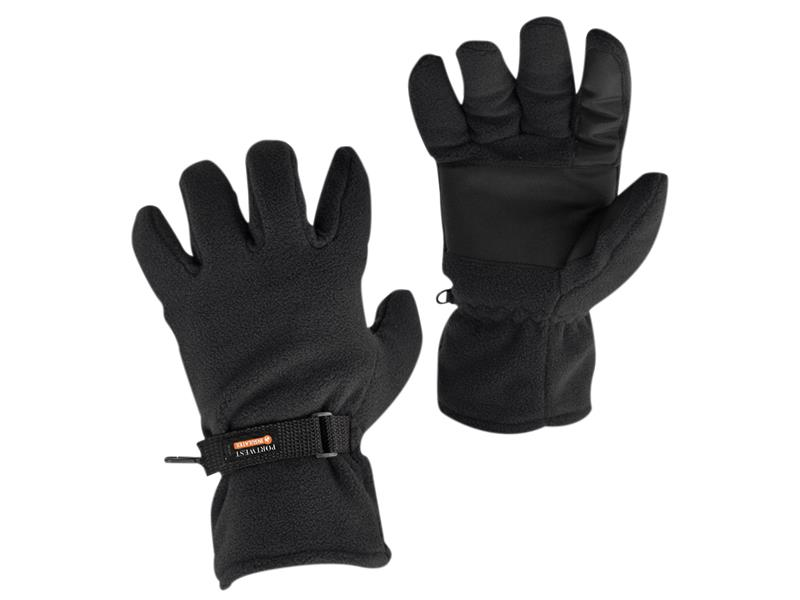 Portwest GL12 Black Thinsulate Fleece Gloves - Large (Size 9) GL12BKR