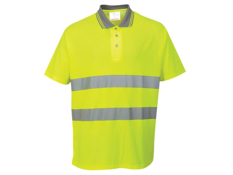 Portwest S171 Hi-Vis Yellow Polo Shirt - L