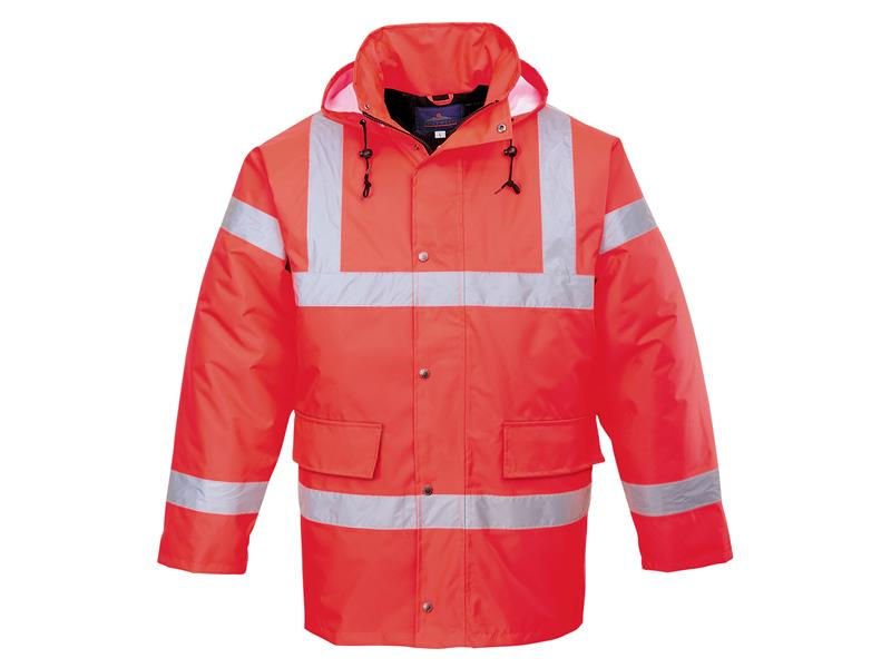 Portwest S460 Hi-Vis Orange Traffic Jacket - M S460ORRM