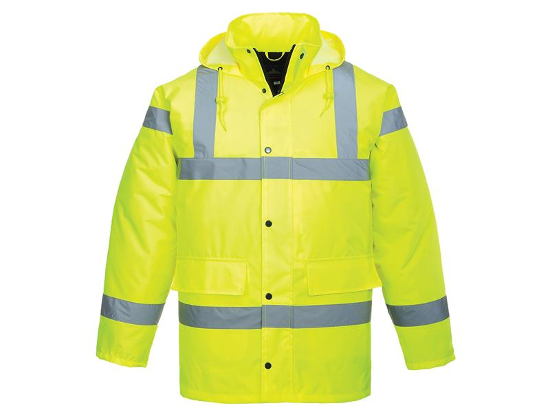Portwest S460 Hi-Vis Yellow Traffic Jacket - XL S460YERXL