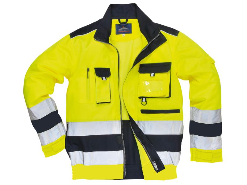 Portwest Tx50 Lille Yellow Navy Hi Vis Jacket L