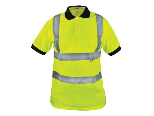 Scan Hi-Vis Yellow Polo Shirt - L (42in) BX130