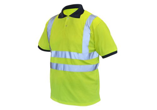 Scan Hi-Vis Yellow Polo Shirt - M (40in) BX130