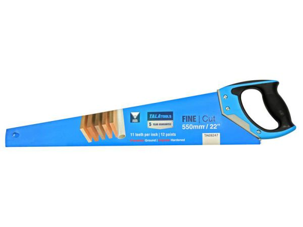TALAtools Fine Cut Handsaw 550mm (22in) 11 TPI TA69247