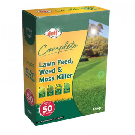 DOFF Complete Lawn Feed, Weed & Moss Killer 1.6kg