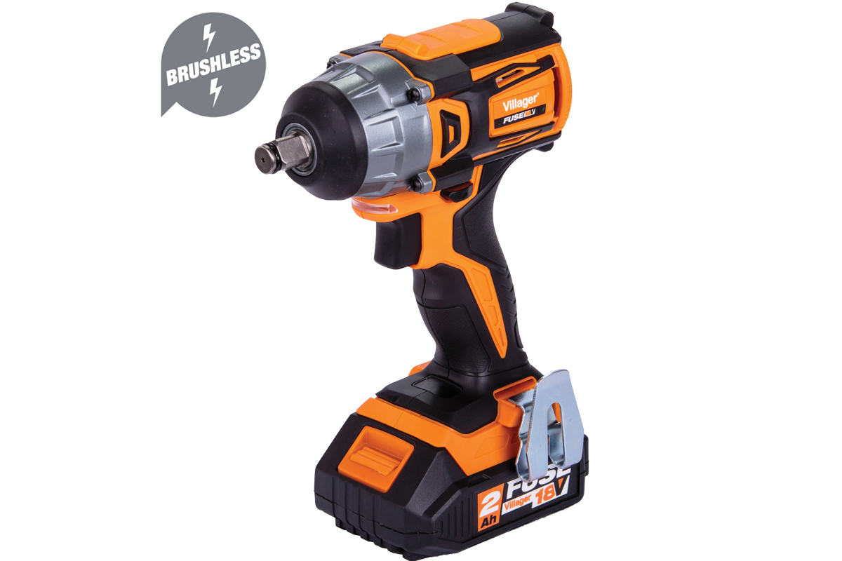 Villager Fuse Brushless Cordless Impact Wrench 18v VLP 5320 1 x 3Ah Battery and Charger