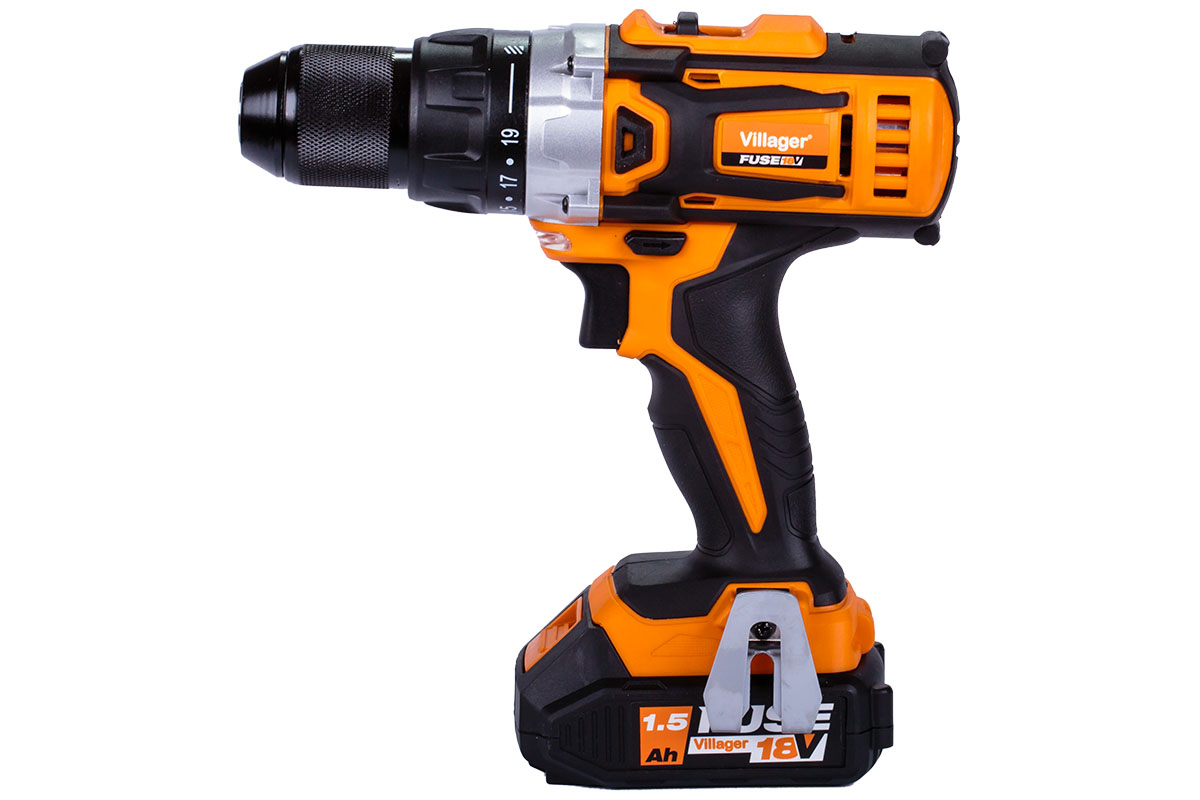 Villager Fuse Pro Cordless Drill Driver VLP 5220-2BSC with 2 X 1.5AH BATTS