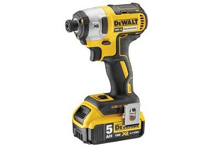 DEWALT DCF887P1 XR Brushless 3 Speed Impact Driver 18 Volt 1 x 5.0Ah Li-Ion DCF887P1-GB