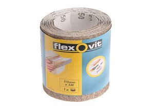 Flexovit General Purpose Sanding Roll 115mm x 5m Fine 180g