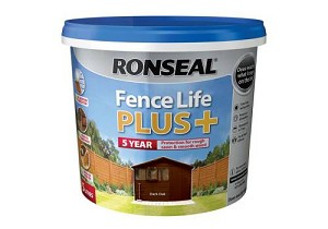 Ronseal Fence Life Plus+ Dark Oak 5 Litre